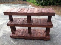pallet tv stand entertainnent table shelf in Camp Lejeune, North Carolina