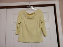 Yellow off the shoulder sweater in Fort Riley, Kansas